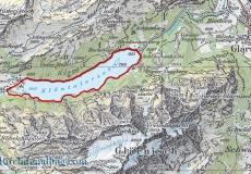Wanderkarte Klöntalersee