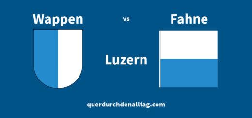 Luzern Wappen Fahne