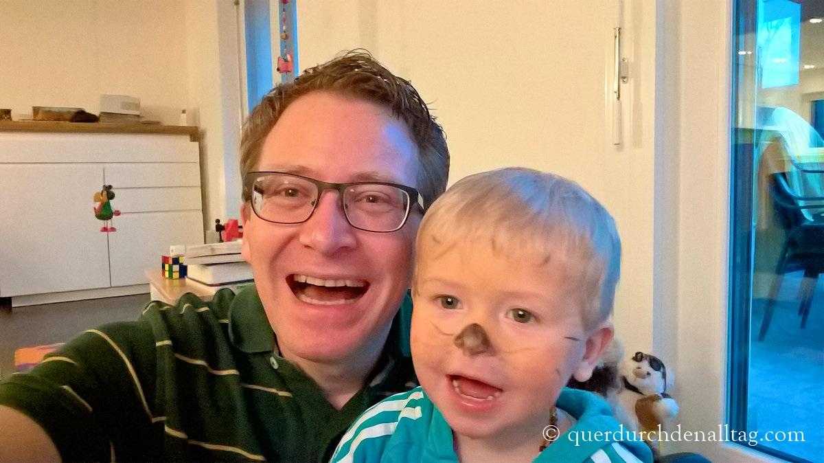 Papi und Sohn