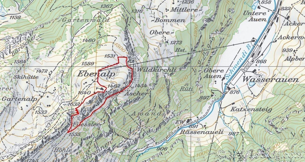 Ebenalp Wildkirchli Äscher Karte