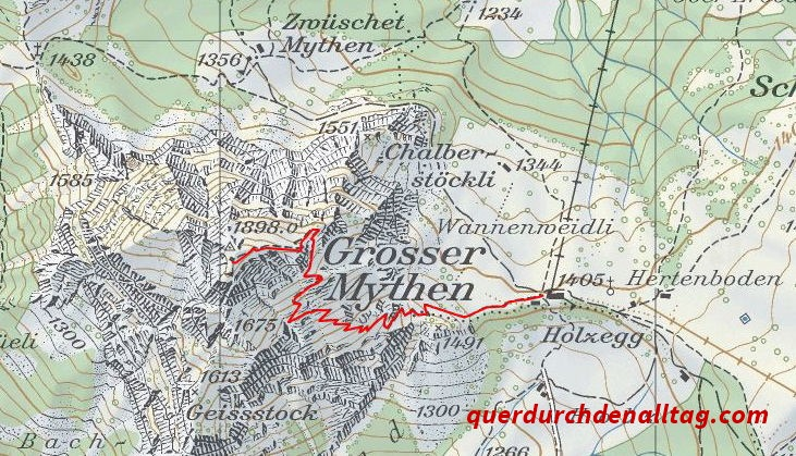 Wanderung Grosser Mythen Karte