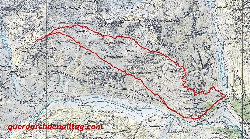 Wanderung Sustlihütte Karte