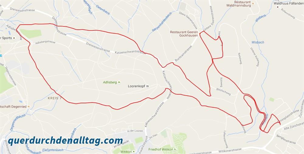 Laufstrecke Pfaffhausen Karte