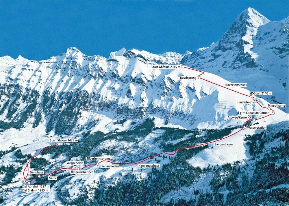 Winter Ski Lauberhorn Wengen