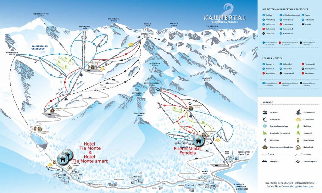 Kaunertal Fendels Skigebiet