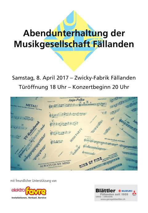 Musikgesellschaft Fällanden Abendunterhaltung 2017