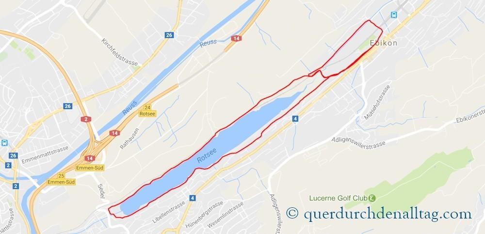 Rotseelauf Ebikon Strecke