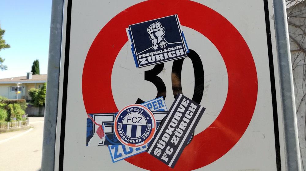 FCZ GC Aufkleber Verkehrsschilder