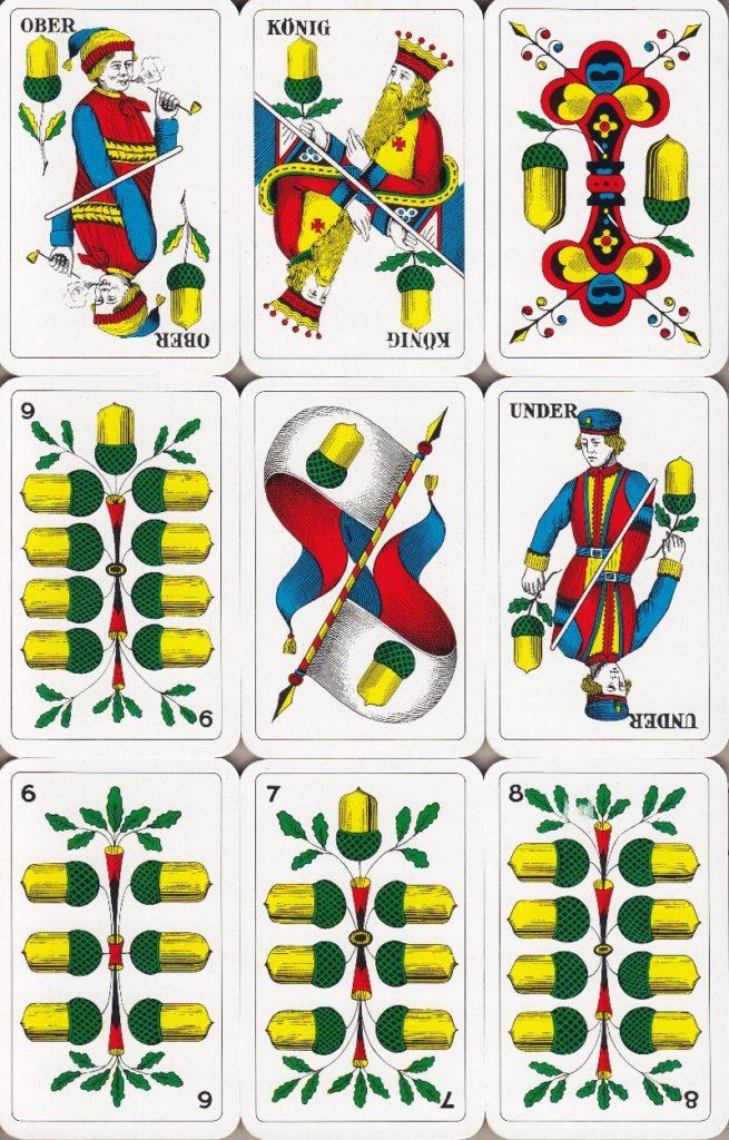 Jasskarten Eicheln Deutschschweiz