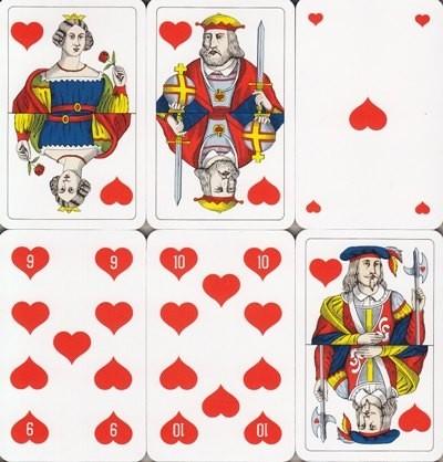 Jasskarten Herz Französisch