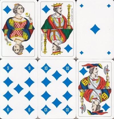 Jasskarten Karo Französisch