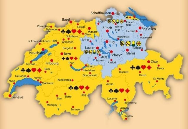 Jasskarten Regionen Schweiz
