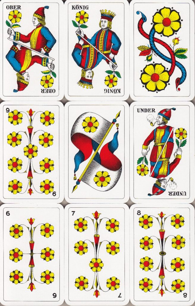 Jasskarten Rosen Deutschschweiz