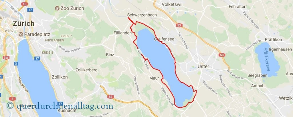 Greifensee Lauf Karte