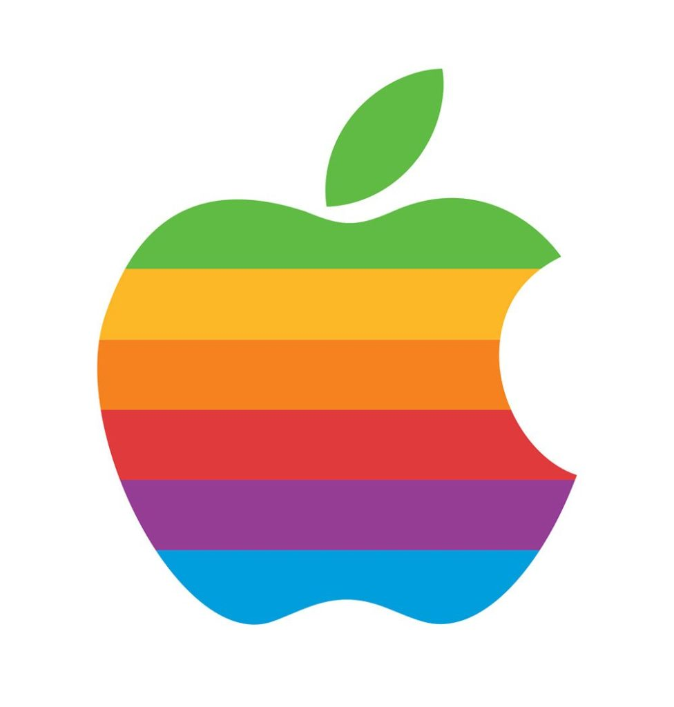 Apple Logo 1976 bis 1998