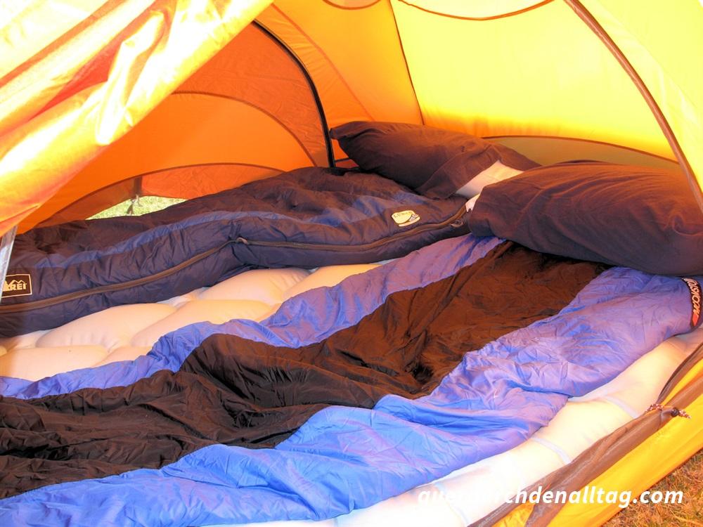 Reisen Zelt Schlafen USA