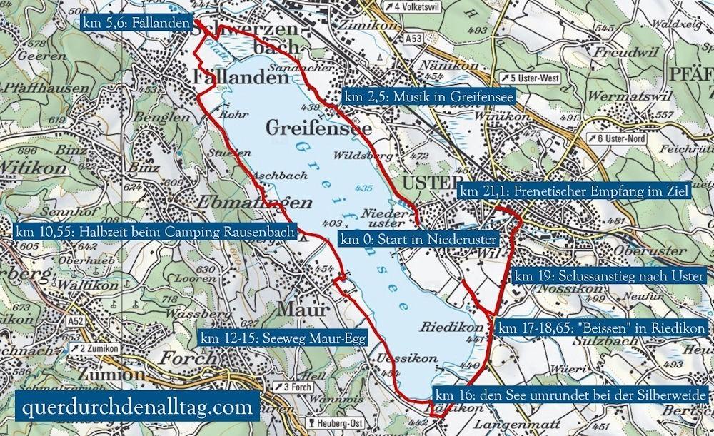 Greifenseelauf Halbmarathon Hot Points