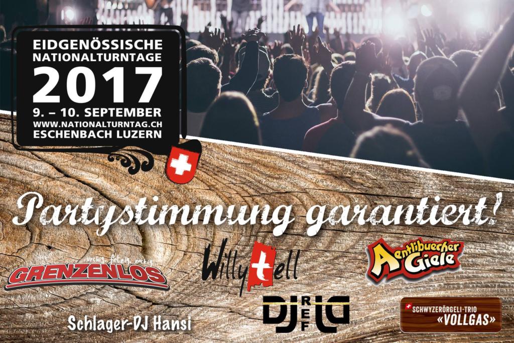 Eidgenössische Nationalturntage Eschenbach 2017 Festprogramm