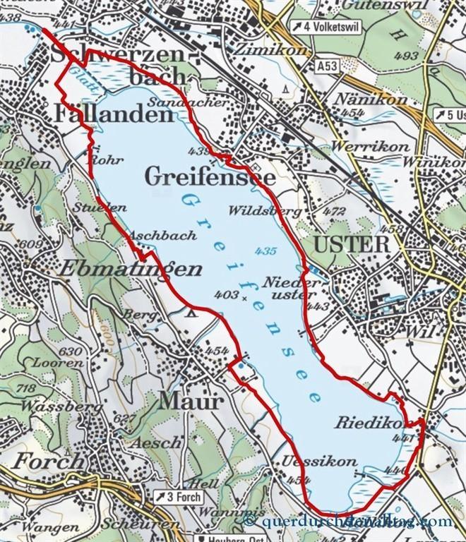 Um den Greifensee Karte