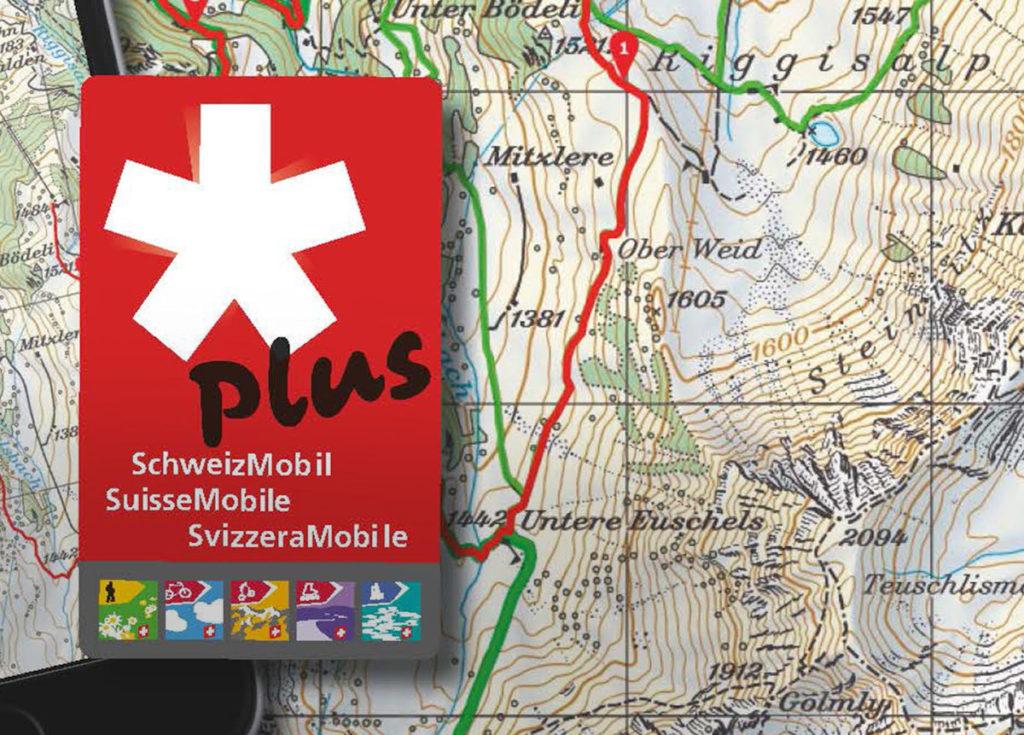 Wandern SchweizMobil Karte