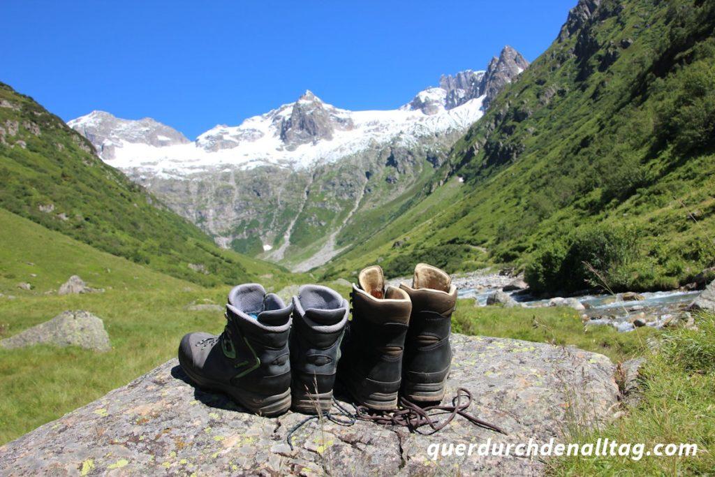 Bewegung Wandern Sustlihütte Wanderschuhe