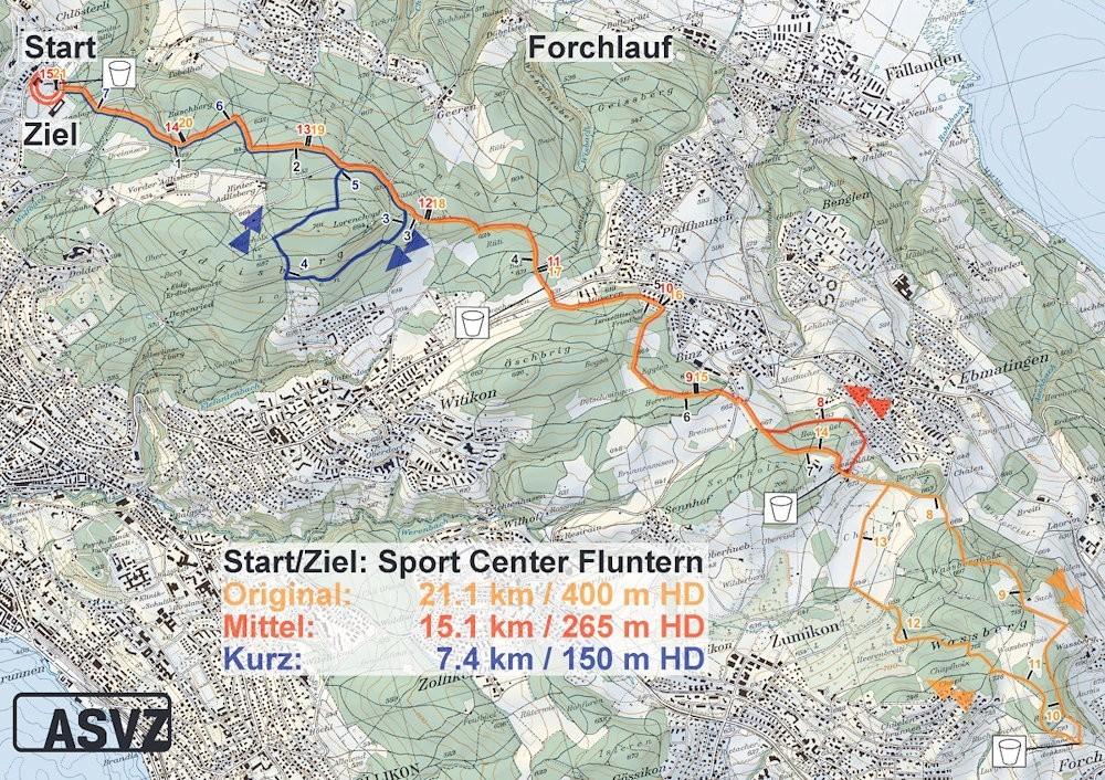 Bewegung Laufen Forchlauf Halbmarathon Zürich ASVZ