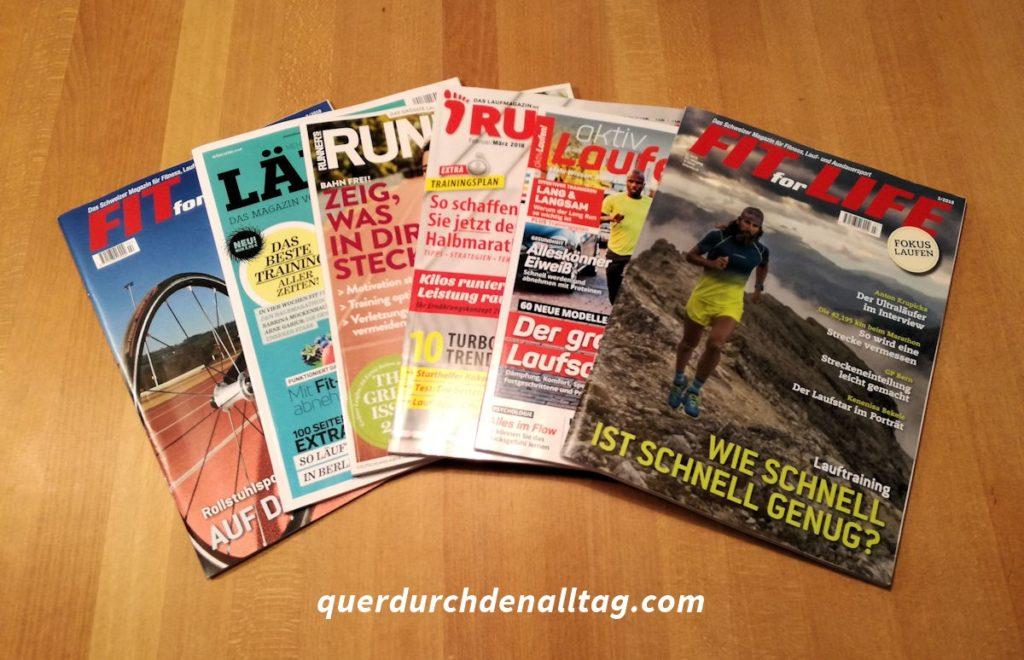 Bewegung Laufmagazine