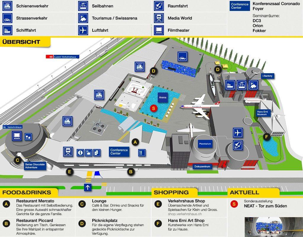 Verkehrshaus der Schweiz Luzern Plan