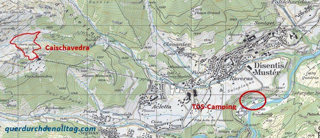 Ausflug Disentis TCS Camping Fontanivas