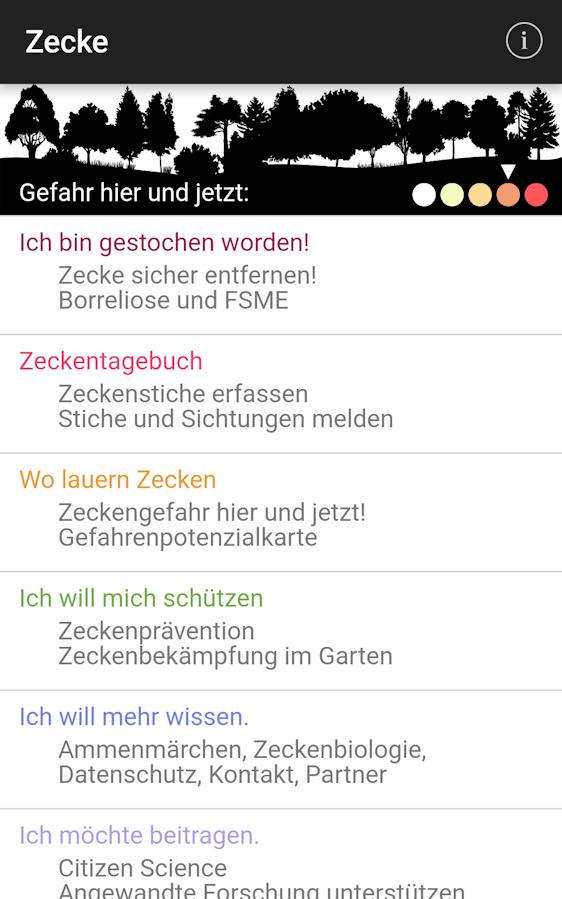Zecken App Smartphone