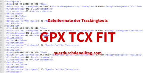 bewetung gpx tcx fit tracking formate