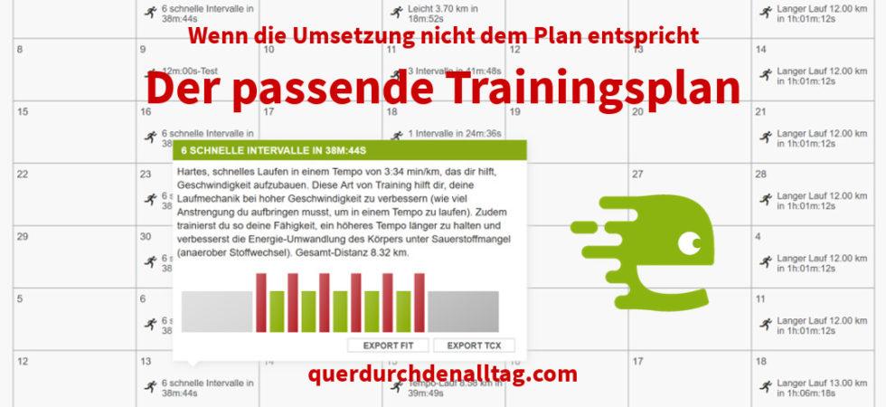 Bewegung Laufen Training Plan