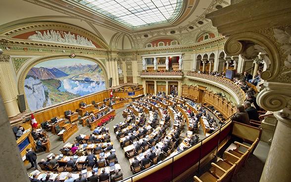 Schweiz Nationalratssaal Bern