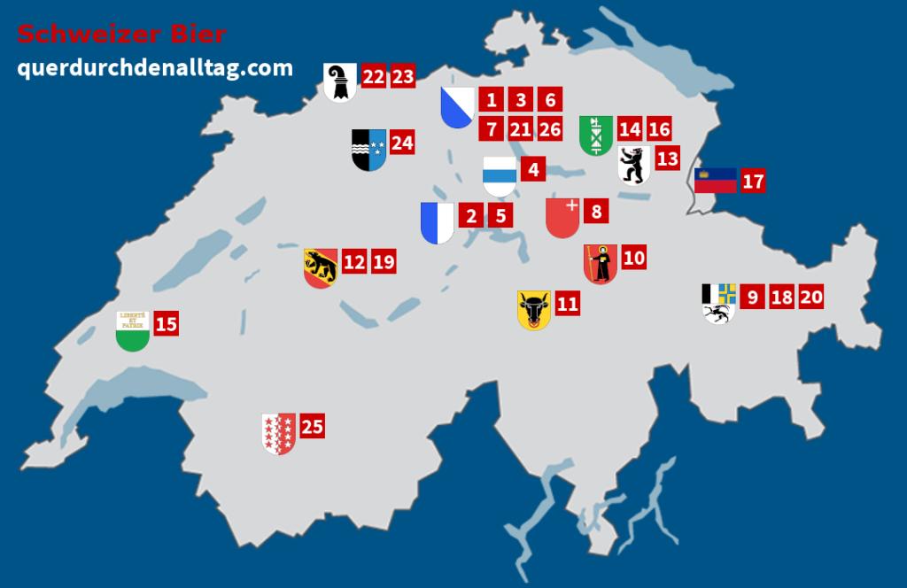 Schweizer Bier Karte