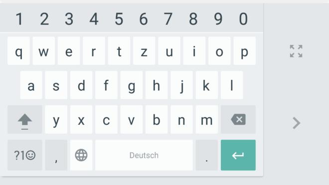 Tastatur Android Smartphone