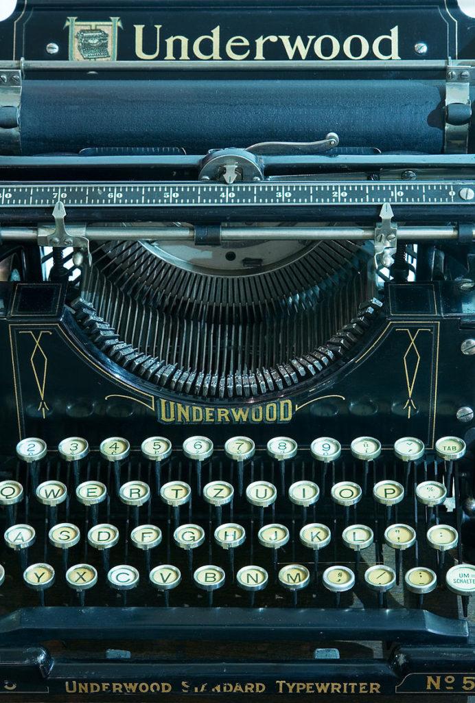 Tastatur Schreibmaschine Underwood 1900Logitec Tastatur PC