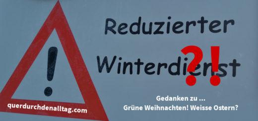 Reduzierter Winterdienst