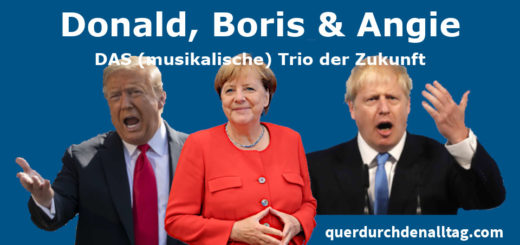 Trio Donald Trump Boris Johnson Angela Merkel