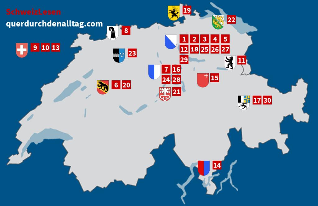 Schweiz Lesen Karte