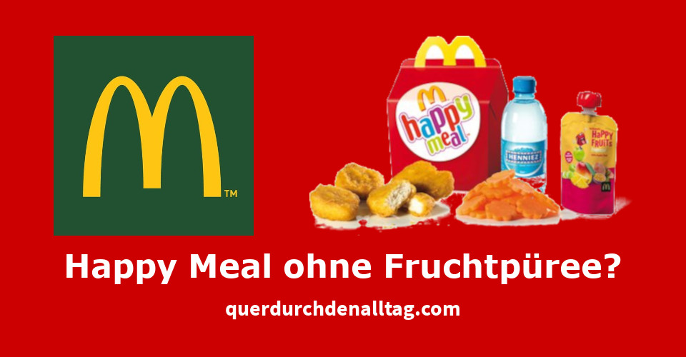 McDonalds Happy Meal Fruchtpürree