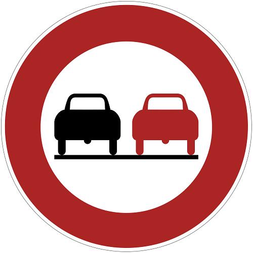 Überholen Verboten Verkehr