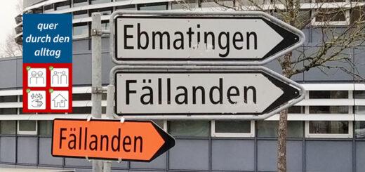 Umleitung Fällanden Pfaffhausen Alltag