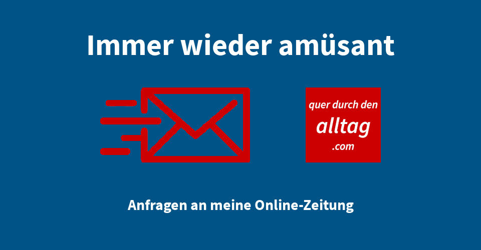 Anfrage E-Mail Online Zeitung